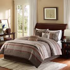 com madison park princeton 7 piece comforter set queen red home kitchen