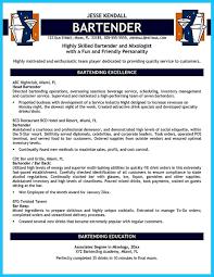 Bartendending Responsibilities Resume Sample And Bartending Resume