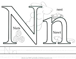 letter n coloring sheets pages animals page newt animal alphabet g colouring free flowers alph letter m coloring pages for s n