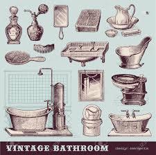 Vintage Badezimmer Möbel Und Accessoires Lizenzfrei Nutzbare