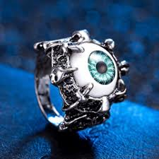 men jewelry men s vine dragon claw evil eye skull ring snless steel biker ring eyeball party props in rings from jewelry accessories