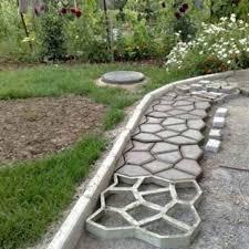 diy plastic path maker mold manually paving cement brick molds patio concrete slabs path garden