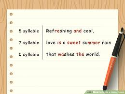 What's The Pattern Of A Haiku Gorgeous How To Write A Haiku Poem With Sample Poems WikiHow