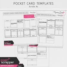 Pocket Card Templates Bundle 4 By Marisa Lerin Pixel