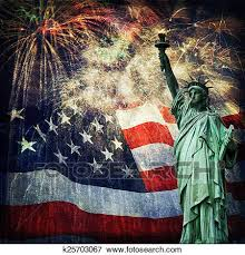 Statue Of Liberty Fireworks Stock Photo K25703067