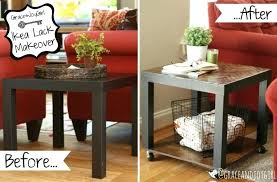 ikea black side table brown lack makeovers