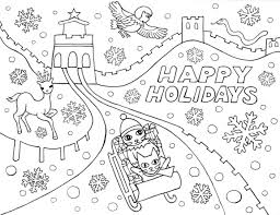 Small Picture Happy Holidays Coloring Pages Pages New glumme