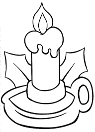 Small Picture Christmas Candle Clip Art Coloring Coloring Pages