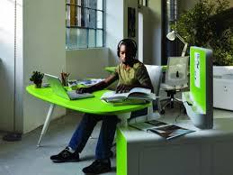 futuristic office desk. Light Green Office Ideas For Desk And Cabinet Futuristic