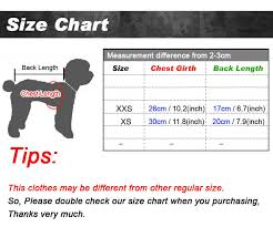 Pet Clothes Size Chart 2018 Summer Cotton Small Puppy Dog Clothes Teacup Dog Pet Clothing Doggie Vest Shirts Cartoon Printed Puppy Chihuahua Yorkies