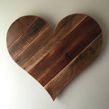 large wooden heart wall art
