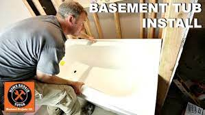 how to install a basement bathtub and