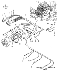 Hull or chassis wiring harness alternator cable assembly