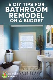 Creative diy bathroom ideas budget Bathroom Makeovers Morningchores Tips For Diy Bathroom Remodel On Budget and Décor Ideas