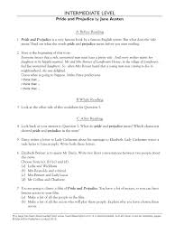 pride prejudice worksheet pride and prejudice british novels