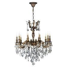 10 light chandelier light antique bronze finish and clear crystal chandelier denley 10 light pendant chandelier 10 light chandelier