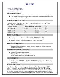Resume Format For Engineering Students Freshers Gentileforda Com
