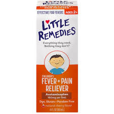 Little Remedies Childrens Fever Pain Reliever Cherry 4 Oz