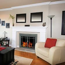 Pleasant Hearth - Edinburgh Glass Firescreen Gunmetal: GHP Group Inc.