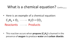 what is a chemical equation contin
