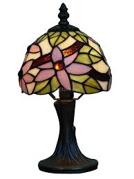 Colorful Flowers Mini 6 Inch Shade Stained Glass Lamp Table Lamp