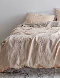 linen duvet cover king peach