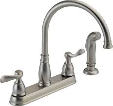 Pfister Kitchen Faucet Reviews Kitchen Design Classic Brass Kitchen Faucet With Double Cross