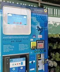 Bulk Water Vending Machines Delectable Aguavida Vending Machine Dispenses Free Alkaline Water For A Tweet