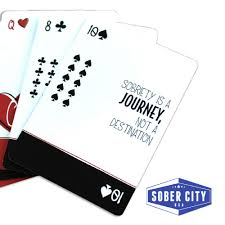 Sober Cards 1 Sobriety Gift For Sober Anniversary Playing Cards With Inspirational Sobriety Quotes And Aa Slogans