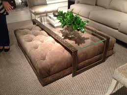coffee table with ottomans underneath popular glass cole papers design throughout 11