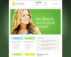 College Templates Best Education Website Templates Entheosweb