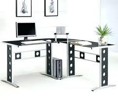 office depot desks glass. L Glass Desk Shaped Medium Size Of Office Shape . Depot Desks