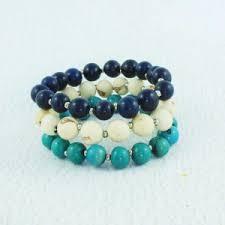 stacking bracelets of acai seed