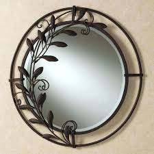 silver circle metal wall art lovely contemporary round wall decorative mirror round mirror