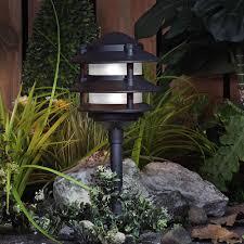 paradise landscape lighting. Paradise Low Voltage Cast Aluminum 11W Incandescent Black Path Light Landscape Lighting G