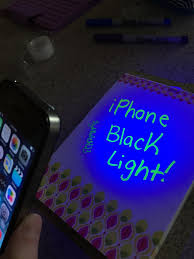 Black Light From Phone Iphone Black Light 5 Steps Instructables