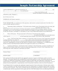 Business Partnership Agreement 8 Free Word Documents Contract Of ...
