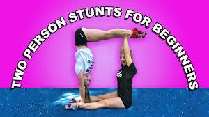 partner gymnastic tricks the rybka twins