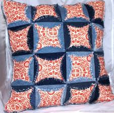 Denim Cathedral Window Pillow Part 1 | FaveQuilts.com & Denim Cathedral Windows Pillow Adamdwight.com