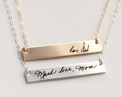 handwriting necklace signature necklace handwriting jewelry actual handwriting custom handwriting necklace signature jewelry