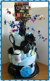 fun 60th birthday party ideas for mom. Over The Hill - Gag Gift Birthday Diaper Cake For Adult 50th Fun 60th Party Ideas Mom Y