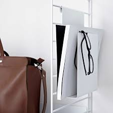 White Leather Magazine Holder Magazine Rack by String Connox Shop 60