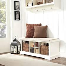 Storage Bench And Coat Rack Set Mudroom Hallway Seat And Coat Rack Entryway Storage Bench With 44