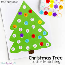 Christmas Tree Letter Matching Activity With Free Printable