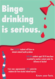 Behance On Binge Drinking Poster