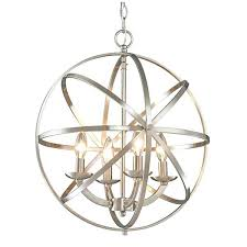 brushed nickel orb chandelier home lighting brushed nickel 4 light chandelier polished nickel orb chandelier
