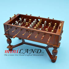 Miniature Wooden Foosball Table Game Highly Detailed Miniature Wooden Foosball Tables 26