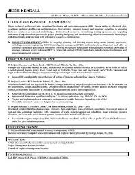 template project manager resume template resume samples for project managers