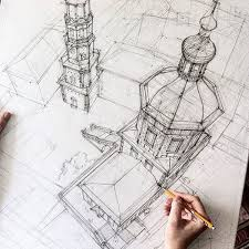 architectural drawings. Freehand Architectural Drawing Drawings S