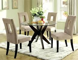 round glass kitchen table with 4 chairs glass dining room table sets 4 chairs cameo black